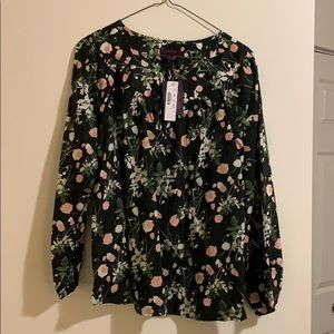 Floral work blouse - never been worn, new with tag